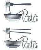 Plato del diseño de las pastas Foto de archivo libre de regalías