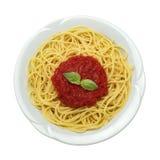 Plato del espagueti Foto de archivo