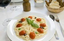 Plato del espagueti Imagen de archivo libre de regalías