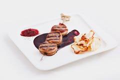 Plato del kebab de la carne foto de archivo