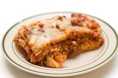 Plato del Lasagna Fotografía de archivo libre de regalías