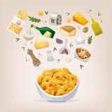 Plato del mac y del queso Imagenes de archivo