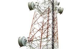 Plato del primer en torre de la telecomunicación imagen de archivo libre de regalías