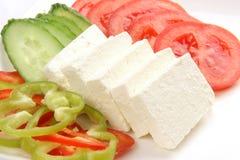 Plato del queso de queso Feta Foto de archivo