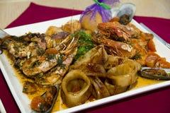 plato del restaurante - mariscos foto de archivo libre de regalías