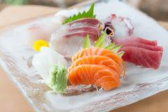 Plato del Sashimi imagenes de archivo