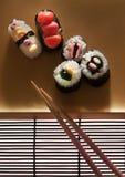 Plato del sushi del caramelo Fotografía de archivo