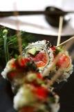 Plato ensartado 5 del sushi foto de archivo