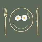Plato feliz libre illustration
