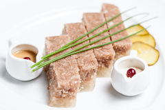 Plato gelatinado de la carne Fotografía de archivo libre de regalías