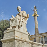 Plato the Greek philosopher and Athena Royalty Free Stock Photography