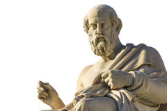 Plato. Greek philosopher Plato in front of the National Academy of Athens Royalty Free Stock Images