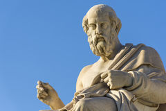 Plato. Greek philosopher Plato in front of the National Academy of Athens Stock Image