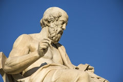 Plato. Greek philosopher Plato in front of the National Academy of Athens Royalty Free Stock Photo