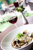 Plato hermoso italiano de la comida A Foto de archivo