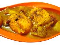 Plato indio - curry del huevo Imágenes de archivo libres de regalías