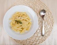 Plato italiano de las pastas Imagen de archivo libre de regalías