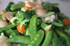 Plato mezclado frito de las verduras Foto de archivo
