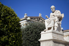 Plato the philosopher. At the Academy of Athens, Greece royalty free stock images