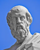 Plato the philosopher statue. Plato the philosopher, Athens Greece stock photo