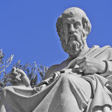 Plato the philosopher statue. Plato the philosopher, Athens Greece royalty free stock photos