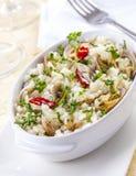 Plato picante del arroz de los mariscos foto de archivo
