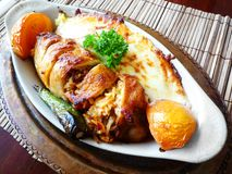 Plato principal del pollo turco Imagenes de archivo