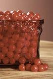 Plato rojo del caramelo Fotos de archivo libres de regalías