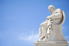 Plato statue. At the Academy of athens Stock Photos