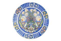 Plato turco del azulejo fotos de archivo libres de regalías