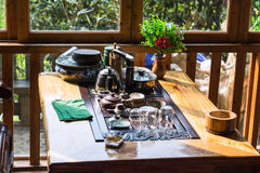 plato vacío en la tabla en restaurante chino Imagen de archivo libre de regalías