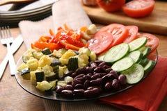 Plato vegetariano. Imágenes de archivo libres de regalías