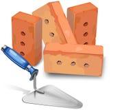 Platoir and bricks Royalty Free Stock Photo