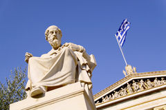 Platon. In front of Academy of Athens Royalty Free Stock Photo