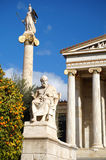 Platon et Athena Statues Image stock