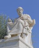 Platon la statue de philosophe images libres de droits