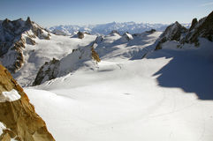 Platon près de Mont Blanc Photographie stock libre de droits