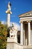 Platone e Athena Statues Immagine Stock