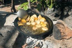 Platones are fried bananas Stock Photo