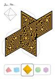 Platonic Solid Octahedron Maze Royalty Free Stock Image