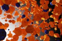 Platonisk bakgrund för abstrakt polygon Fotografering för Bildbyråer