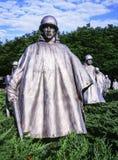 Platoon At The Korean War Memorial Stock Photography
