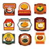 Platos asiáticos de los dulces fijados Fotos de archivo libres de regalías