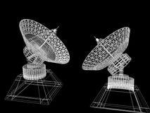 Platos basados en los satélites Imagen de archivo libre de regalías