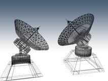 Platos basados en los satélites Fotografía de archivo