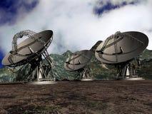 Platos basados en los satélites Foto de archivo libre de regalías