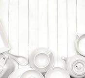 Platos blancos fotografía de archivo libre de regalías