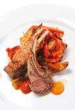 Platos calientes de la carne - cordero con hueso Fotografía de archivo