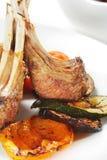 Platos calientes de la carne - cordero con hueso Foto de archivo libre de regalías