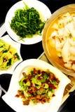 Platos chinos de la cocina, restaurante de Szechuan Imagen de archivo